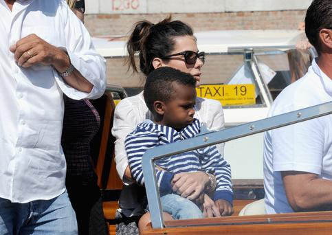 Actress Sandra Bullock and son Louis Bardo Bullock are seen during the 70th Venice International Film Festival on August 27, 2013 in Venice, Italy. (Photo by Jacopo Raule/FilmMagic)