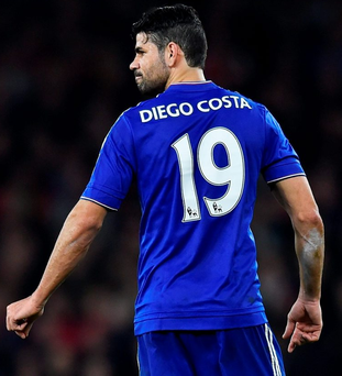 Diego Costa bagged a goal against Arsenal