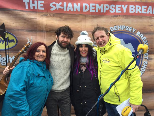 Aileen Eglington, Declan O'Rourke and Andrea Smith are in Austria with Ian Dempsey's Topflight Today FM annual ski trip