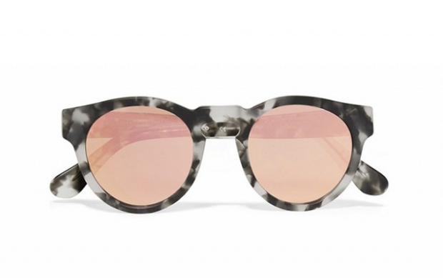 bf0d3ab31c Olivia Palermo x Westward Leaning Voyager 15 Round-Frame Acetate Mirrored  Sunglasses (€220
