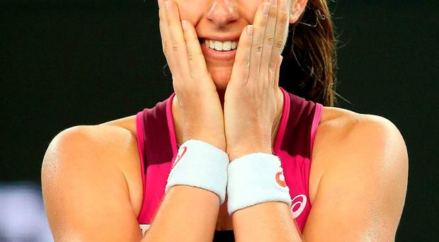 Ohanna Konta has reached the quarter-finals of the Australian Open. Photo: Michael Dodge / Getty Images