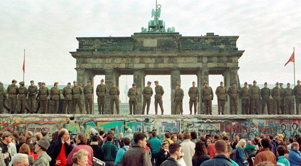 The Berlin Wall in 1989