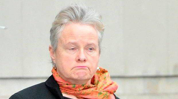 Disgraced Doctor Michelle Mellotte leaves Belfast Crown Court yesterday after pleading guilty to fraud