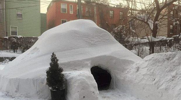 A view of the igloo