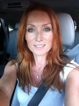 Victoria Smurfit flaunts her fiery red hair. Photo credit: Victoria Smurfit