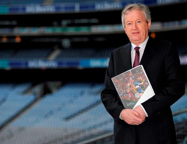 Paraic Duffy at Croke Park yestersday after releasing his annual report. Picture credit: Seb Daly / Sportsfile