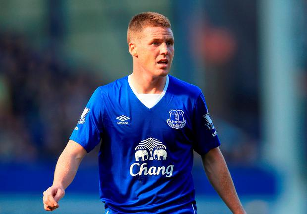 Everton's James McCarthy should be fit to face Manchester City tonight in the League Cup semi-final second leg. Photo: PA
