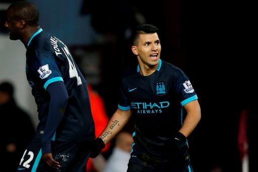 Despite some mediocre performances, Manchester City and Sergio Aguero are still favourites for the title (Photo: Getty Images)
