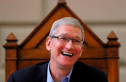Apple chief Tim Cook on his visit to Ireland last November. Photo credit: Niall Carson/PA Wire