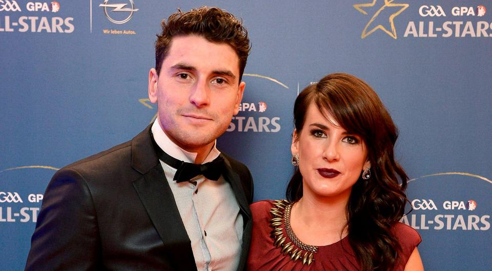 Bernard Brogan with his new fiancée Keira Doyle. The pair got engaged in Turkey at the weekend. Picture credit: Paul Mohan / SPORTSFILE