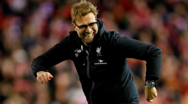 Liverpool manager Jurgen Klopp celebrates after winning the penalty shootout Action Images via Reuters / Carl Recine