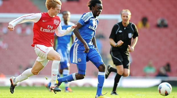 Young talent: Bertrand Traoré plays in the under-18s game at the centre of the controversy Photo: PA
