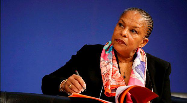 File picture shows French Justice Minister Christiane Taubira