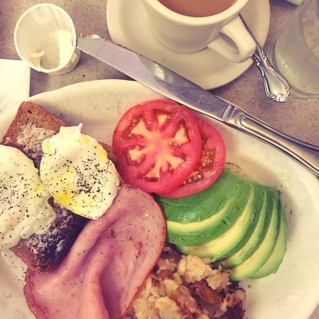 Vicki Notaro's breakfast as she holidayed in New York City