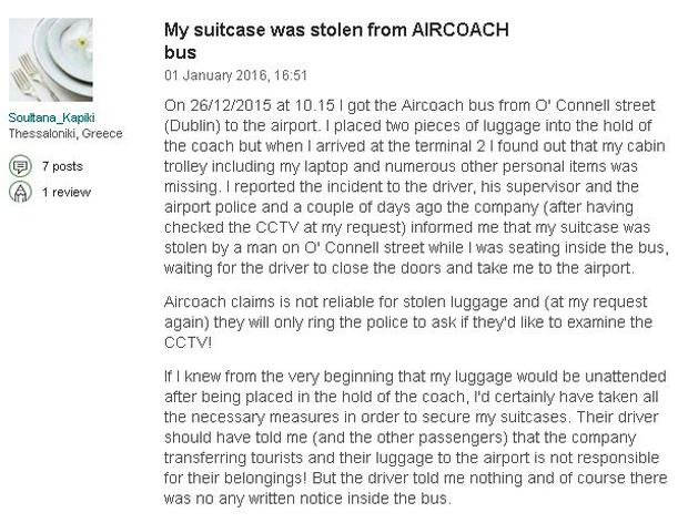 Aircoach defends service after passengers complain about baggage a complaint about aircoach posted on tripadvisor spiritdancerdesigns Images