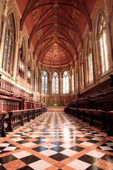 The Chapel, built in the 1860s, which is one of the areas of Cambridge University's famous colleges which are to be opened to virtual visitors on Google Streetview. Photo: St John's College Cambridge/PA Wire
