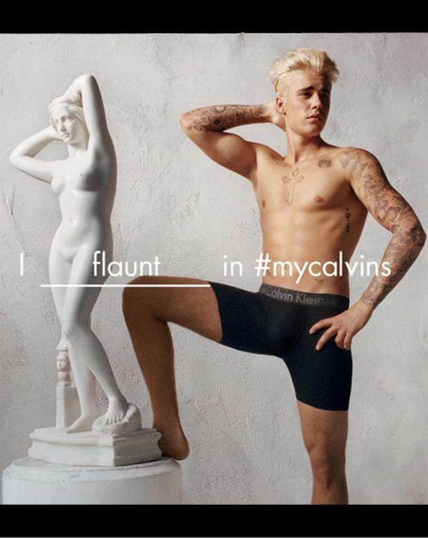 Justin Bieber in the new Calvin Klein ad. (Photo: Instagram)
