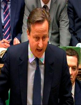 Prime Minister David Cameron speaks during Prime Minister's Questions in the House of Commons, London. Photo: PA Wire