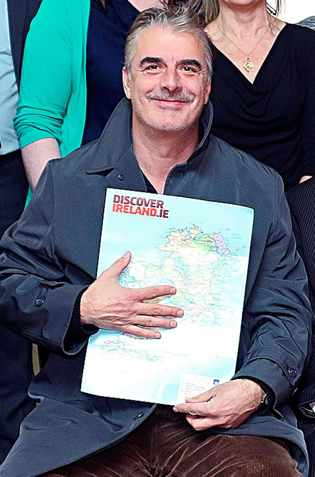 Hollywood actor Chris Noth, star of Sex and the City and The Good Wife, at the Johnston Central Library in Cavan. Photo: Lorraine Teevan
