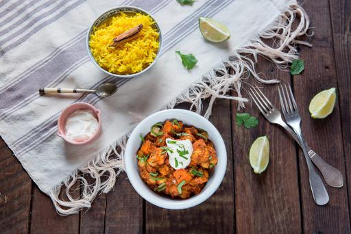 Roasted sweet potato curry. Photo: Mark Duggan.