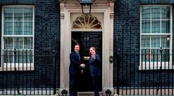 British Prime Minister David Cameron and Taoiseach Enda Kenny at Downing Street this week. Photo: Chris Radcliffe