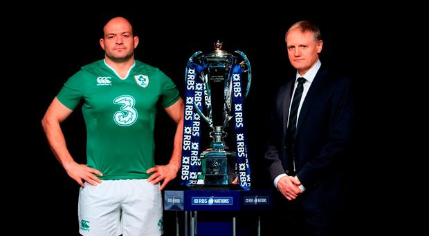 Ireland captain Rory Best and head coach Joe Schmidt in London at yesterday's Six Nations launch (Photo: John Walton/PA Wire)