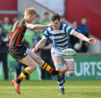 A strong finish from Ardscoil Rís saw off the the challenge of St.Clement's : David Maher / SPORTSFILE