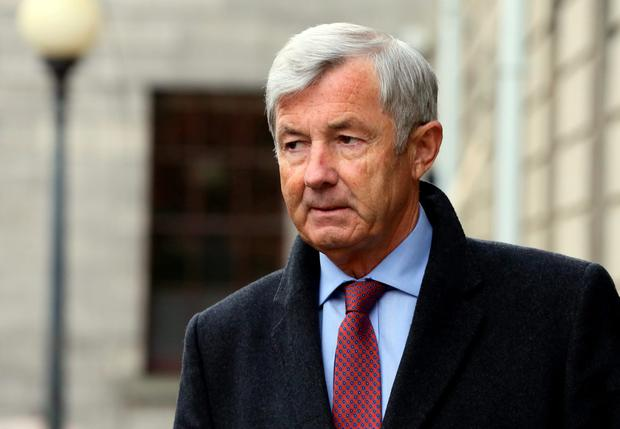 Michael Lowry at the Four Courts during a High Court hearing .Pic: Courts Collins