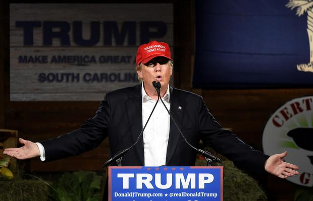 Republican presidential candidate Donald Trump speaks during a campaign stop on Wednesday in Gilbert, South Carolina. (AP Photo/Rainier Ehrhardt)