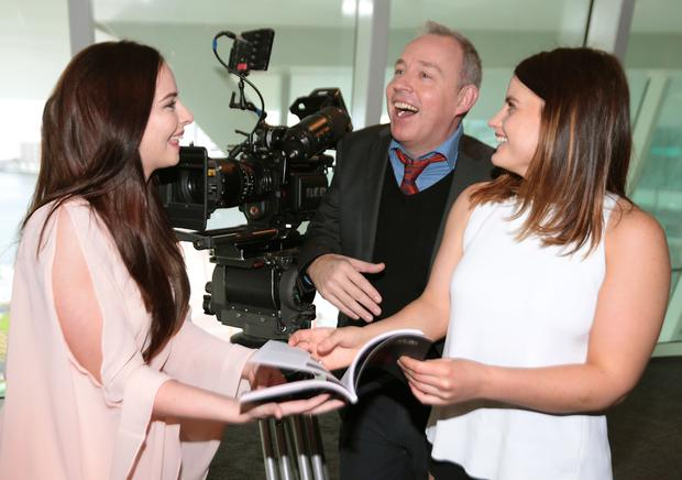 Actresses Kelly Thornton (Left) and Nika McGuigan with Film Director Damien O Donnell at the Programme launch for The Audi Dublin International Film Festival. Picture: Brian McEvoy