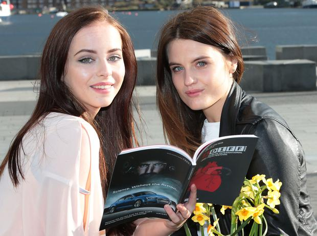 Actresses Kelly Thornton and Nika McGuigan. Picture Brian McEvoy
