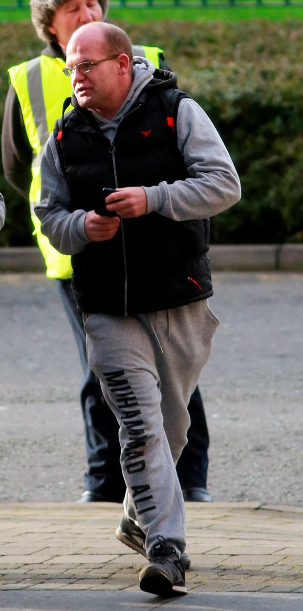 Karl McGuirk pictured at Blanchardstown District Court this morning where 19 accused were brought before the courts under Operation Rhea. Picture Collins Dublin.