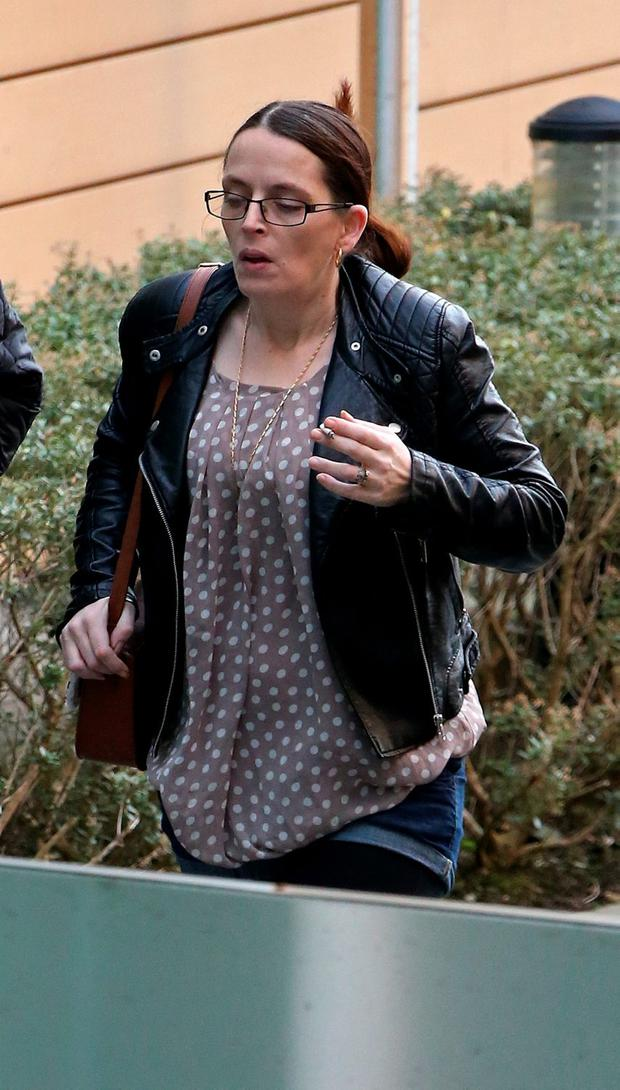 Zoe Lakes pictured at Blanchardstown District Court this morning where 19 accused were brought before the courts under Operation Rhea. Picture Collins Dublin.