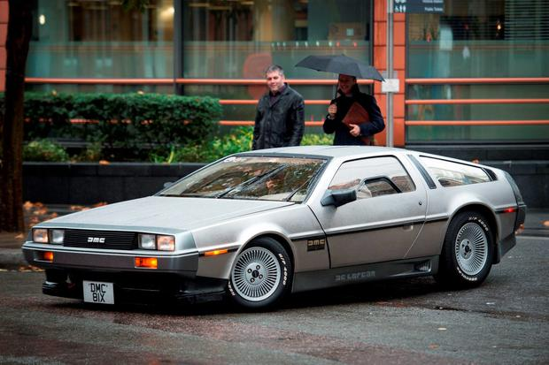 The DeLorean was the 'time machine' car used in the Back to the Future movies. Photo: Stefan Rousseau/PA Wire