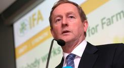 Taoiseach Enda Kenny addresses the IFA Executive Council meeting yesterday. Photo: Finbarr O'Rourke