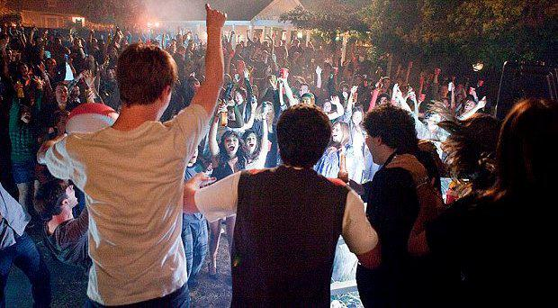 The American film Project X shows a house being trashed by a crowd sourced on social media Photo: Warner Bros