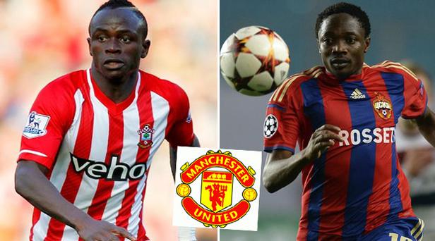 Sadio Mane, left, and CSKA striker Ahmed Musa