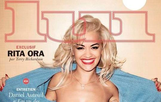 Rita Ora poses topless for Lui magazine