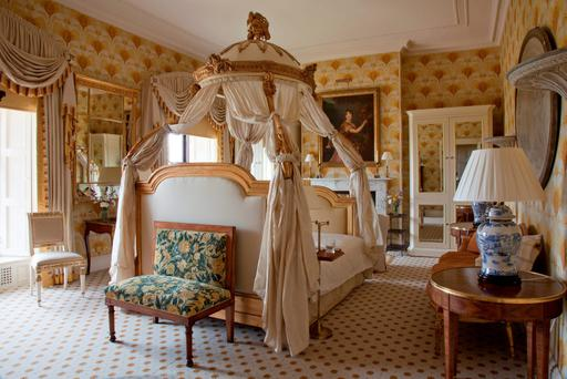 Pure indulgence: One of the rooms at Ballyfin House.