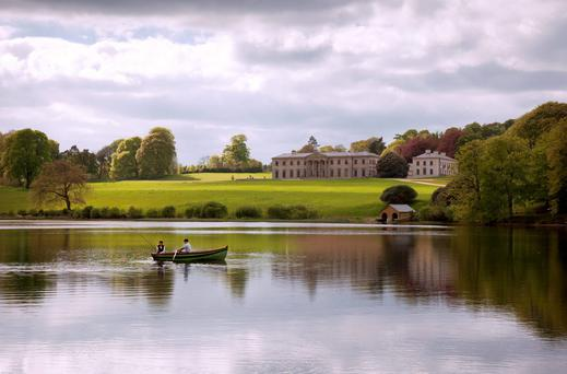 The stunning setting of Ballyfin House.