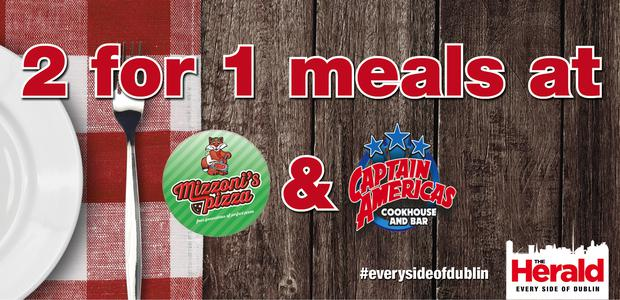 df615e1a60384b 2 for 1 meals at Captain Americas and Mizzoni - Herald.ie