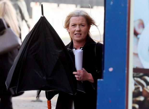 Sharon Kelly leaving the High Court yesterday. Photo: Collins