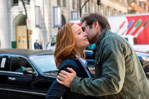 Things are getting strange: Gillian Anderson and David Duchovny return in The X-Files.
