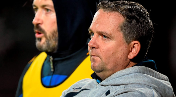 Clare manager Davy Fitzgerald (r) feels Donal Og Cusack (l) will 'add a bit of freshness' to help his troops Photo: Sportsfile