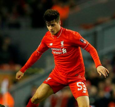Liverpool's Joao Carlos Teixeira. Photo: Phil Noble via Reuters