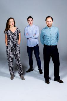 Creditable: Susan Bracken, Kevin Olohan and Ronan Leahy in Creditors at the New Theatre. Photo: Ste Murray.