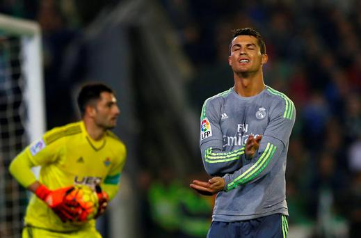 Real Madrid's Cristiano Ronaldo has not been in his usual high-scoring form