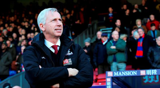 Alan Pardew looks on during his side's FA Cup victory at Selhurst Park. (Photo by Ian Walton/Getty Images)