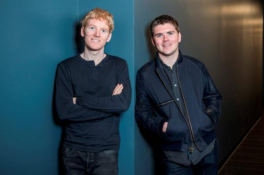 Patrick (left) and John Collison, founders of mobile payments giant Stripe.
