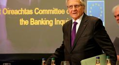 TESTIMONY: Jean-Claude Trichet, former President of the European Central Bank, pictured before his address to members of the Oireachtas Banking Inquiry at the Royal Hospital Kilmainham in April last year